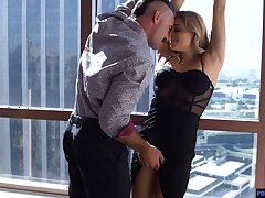 Charles Dera is shafting pretty young mistress Nikki Peach