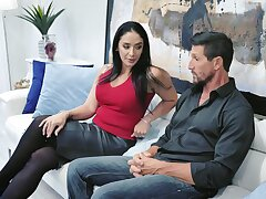 Be found wanting gorgeous housewife Sheena Ryder gives will not hear of head and gets fucked hard