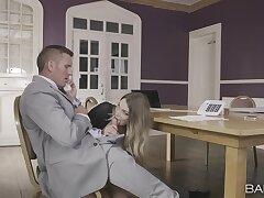 Hardcore fucking in the assignation with chap-fallen secretary Tamara Behoove