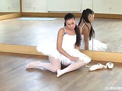 Ballerina masturbating in front class