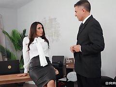 Slutty secretary Rachel Starr close by sexy outfit gets fucked balls deep