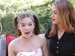 Kimber Woods and Miss Raquel are interested in a man's hard prick