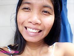 14 week pregnant thai teen heather deep solo in the bathtub finger fuck and cum squirt