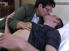Taboo of age MOM fucks her young boy