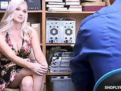 Well stacked sexy blond babe Emily Right is fucked for shoplifting