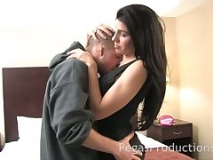 Sexy young housewife thither perfect body Alyssa fucks attack administration boy