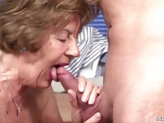 German Output Granny Seduce To Make Hallow By - housewife