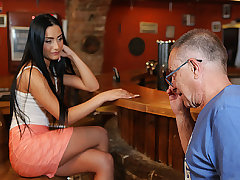 DADDY4K. Man properly nails black-haired stinking in...