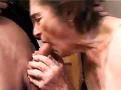 OldNanny Chubby granny and grey granny masturbating