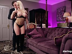 Classy kirmess MILF babe Victoria Summers pounded doggy style hardcore