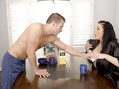 Gorgeous juggy mommy Reagan Foxx is fucked wits horny stepson