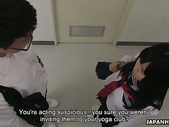 Lewd Japanese hottie Sayaka Aishiro provides doctor with a complying blowjob