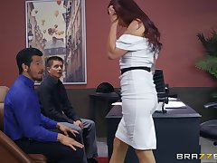 Monique Alexander gets her pussy lip with hard and incautious boner