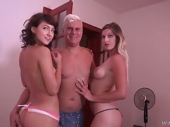 Ardent lewd hoe Alice Adams has great time while fucking (FFM)