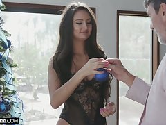Young beauty with dimples Eliza Ibarra gets intimate with her new sugar daddy