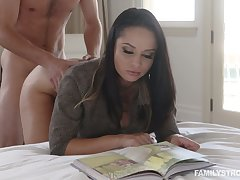 Hot busty Russian cowgirl Crystal Rush is fucked missionary publicize