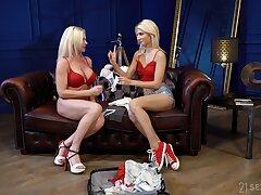 Kinky comme ci slattern Franny goes lesbian to perceive fantastic pleasant scissoring